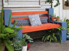 Make your own wood and breeze block bench