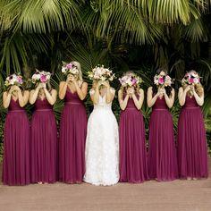Hot Sale Tulle A-Line Lace V-Back Sleeveless Bridesmaid Dress, The long b. - Hot Sale Tulle A-Line Lace V-Back Sleeveless Bridesmaid Dress, The long bridesmaid dresses a - Raspberry Bridesmaid Dresses, Bridesmaid Dress Colors, Wedding Bridesmaid Dresses, Wedding Gowns, Bridesmaid Duties, Bridesmaid Bouquet, Wedding Ceremony, Wedding Colors, Magenta Wedding