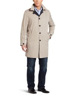 Faconnable Men's Reversible Trench Coat, Navy « Impulse Clothes