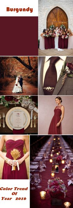 burgundy wedding ideas