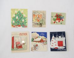 Collection of Vintage Christmas Cards by HappyCloudVintage on Etsy, $4.50
