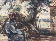 Andrew Wyeth, Black Man Seated