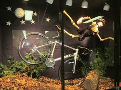 Bicycle Accident Window Display http://www.mohawkcollege.ca/business-programs/business-marketing-diploma/retail-window-display/photo-gallery.html