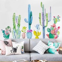 your home with this Cactus Wall Decals.The decals are easy to apply and Decorate your home with this Cactus Wall Decals.The decals are easy to apply and. Decorate your home with this Cactus Wall Decals.The decals are easy to apply and. Tropical Wall Decals, Flower Wall Decals, Kids Wall Decor, Room Wall Decor, Bedroom Wall Decals, Wall Stickers Home Decor, Bedroom Decor, Vitrine Design, Floral Wall Art
