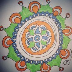 A little sketch from this weekend, as I prepped for #MandalaMeditations. http:DesireeEast.com/studio/mandala-meditations #mandala #art