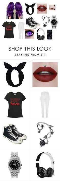 """Elizabeth #1"" by sky-malfoy on Polyvore featuring Lulu in the Sky, Converse, Rolex and Beats by Dr. Dre"