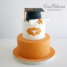 UT Graduation Cake. ©Coco Paloma Desserts https://flic.kr/p/Cz1ywo  
