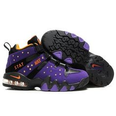 Nike Air Max Charles Barkley Purple Black Men Basketball Shoes  36.99 Low  price go to  c91611dfe0