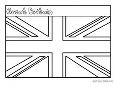 Printable Flag of Great Britain coloring page for kids - Printable Coloring Pages For Kids