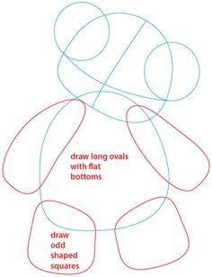 how to draw teddy bear easy