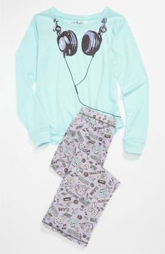 PJ Salvage  Headphones  Two Piece Pajamas (Little Girls  amp  Big Girls) c413ee9a2