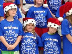 Holiday performance sing club with Lily and Katie!