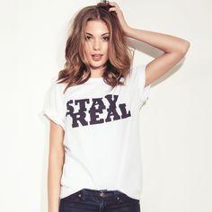 Terra Jo Wallace in Brashy Couture Stay Real Tee #tee #tshirt #fashion
