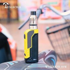 Tesla Warrior TC Kit with Mini Tank Product Information Tesla Warrior TC Kit is powered by a single 18650 cell(discharge current above and is compatible with Mini Tank. Kit, Vape Products, Yellow, Beautiful, Instagram, Colors, Electronic Cigarettes, Photos, Fire
