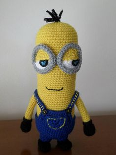Crocheted Yellow Minion Stuffed Toy Minion Kevin Minion