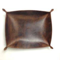 Leather Coasters & Tray - Great for holding remotes, magazines, etc with matching coasters