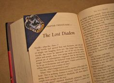 Ravenclaw House Crest Corner Bookmark