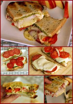 Pesto Pizza Grilled Cheese Sandwiches. wearychef.com