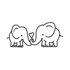 Elephant Couple Temporary Tattoo (Set of Elefanten Diy Tattoo, Fake Tattoo, Bad Tattoos, Tattoo Set, Sister Tattoos, Trendy Tattoos, Foot Tattoos, Temporary Tattoo, Girl Tattoos