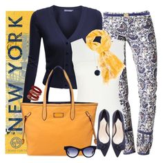 """""""go new york"""" by bycharogarcia ❤ liked on Polyvore featuring Big Fish, Tory Burch, Dsquared2, Doublju, Karen Millen, Garcia, Paul Andrew, Ottoman Hands, STELLA McCARTNEY and Topshop"""