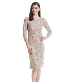 Jessica Howard® Side Tucked Lace Sheath Dress | Bergner's