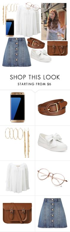 """""""Headed to the Coast~"""" by demeyaxd ❤ liked on Polyvore featuring Samsung, FOSSIL, Charlotte Russe, Nine West, Michael Kors, The Cambridge Satchel Company and Anita & Green"""
