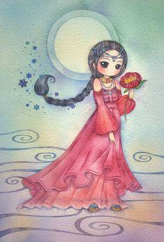 Scorpio, an art print by Juri Ueda Illustration Art Dessin, Ink Illustrations, Chibi, Image Deco, Zodiac Art, Whimsical Art, Cute Drawings, Cute Art, Art Girl