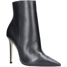 Carvela Spectacular Stiletto Heeled Pointed Toe Ankle Boots (11.750 RUB) ❤ liked on Polyvore featuring shoes, boots, ankle booties, flat leather booties, leather bootie, leather ankle boots, flat ankle booties and high heel bootie