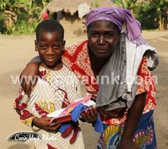 #Happy with some new #Schoolstuff and some #clothes. People in #Villages in #Benin are very happy with some of those.