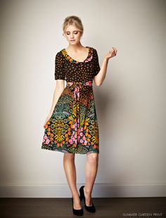 Leona Edmiston Agnes dress - vintage style meets modern neon. Love this for anything from work to picnics