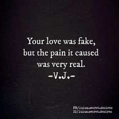 Love Is Fake Quotes Brokenpromises #notinourparty …  Words  …