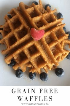 Grain Free Waffles - Instant Loss - Conveniently Cook Your Way To Weight Loss Gluten Free Breakfasts, Gluten Free Recipes, Low Carb Recipes, Diet Recipes, Healthy Recipes, Recipies, Blender Recipes, Waffle Recipes, Yummy Recipes