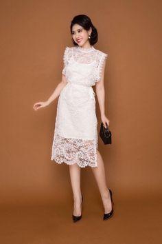 Modern Filipiniana Dress, Kebaya Modern Dress, Fashion Models, Girl Fashion, Fashion Dresses, Womens Fashion, Chic Dress, Lace Dress, White Dress Summer