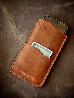 "Check  out our ""Judas"" saddle tan handmade leather iPhone 6 sleeve available at www.basandlokes.com"