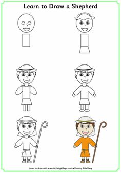 Learn to draw a shepherd