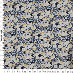 Challis Fancies - Rayon Challis Summerfield Blue Fabric
