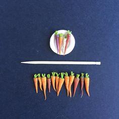 Miniature clay carrots / happyminis