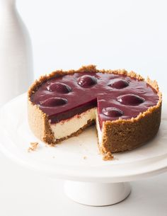 Black Doris Plum Cheesecake. I don't really enjoy the taste of the sickly sweet, processed cheesecakes that you can buy, so I wanted to create a real one with good natural flavours - and this is one of the desserts I'm most proud of. You can find this recipe in my book, At My Table - buy it now by clicking on the picture (New Zealand only).