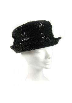 Cappello con paillettes GUERRIERI Questo cappello della Guerrieri è  perfetto per donne. Modello a borsalino 4ffe7257bca8