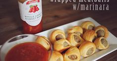 Wrapped Meatballs With Marinara. So easy, and delicious! Great for the whole family! #TheStoryOfSauce #ad