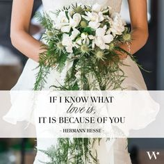 #LoveQuote: If I know what love is, it is because of you. - Hermann Hesse