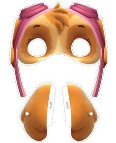 Paw Patrol Free Printable Masks and Ears. Skye Paw Patrol Costume, Paw Patrol Masks, Paw Patrol Party, Paw Patrol Birthday, Paw Patrol Toys, Printable Halloween Masks, Printable Masks, Free Printable, Free Paw Patrol Printables
