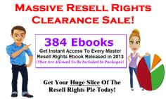 Master Resell Rights Ebooks 2013 Sale