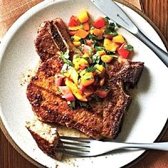 Pork Chops with Mango Salsa