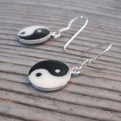 Yin Yang Earrings in Sterling Silver. Currently on sale for $15!