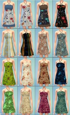 Short sundress (16 recolors) | Sims 4 Updates -♦- Sims Finds & Sims Must Haves -♦- Free Sims Downloads