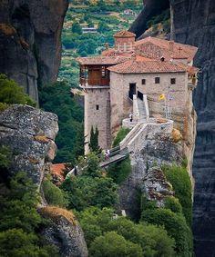 favorit place, beauti place, roussanou monasteri, greece, amaz, visit, travel, meteora greec, clifftop