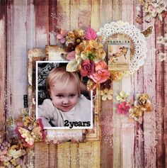 Baby page created with Butterfly collection by Prima.