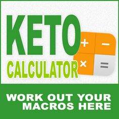 Keto Calculator for Ketogenic Diet Macronutrients