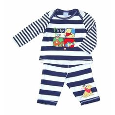 """Licensed Disney Pooh Bear """"P is for Pooh"""" 2 piece set.  Sizes 0000 & 000."""
